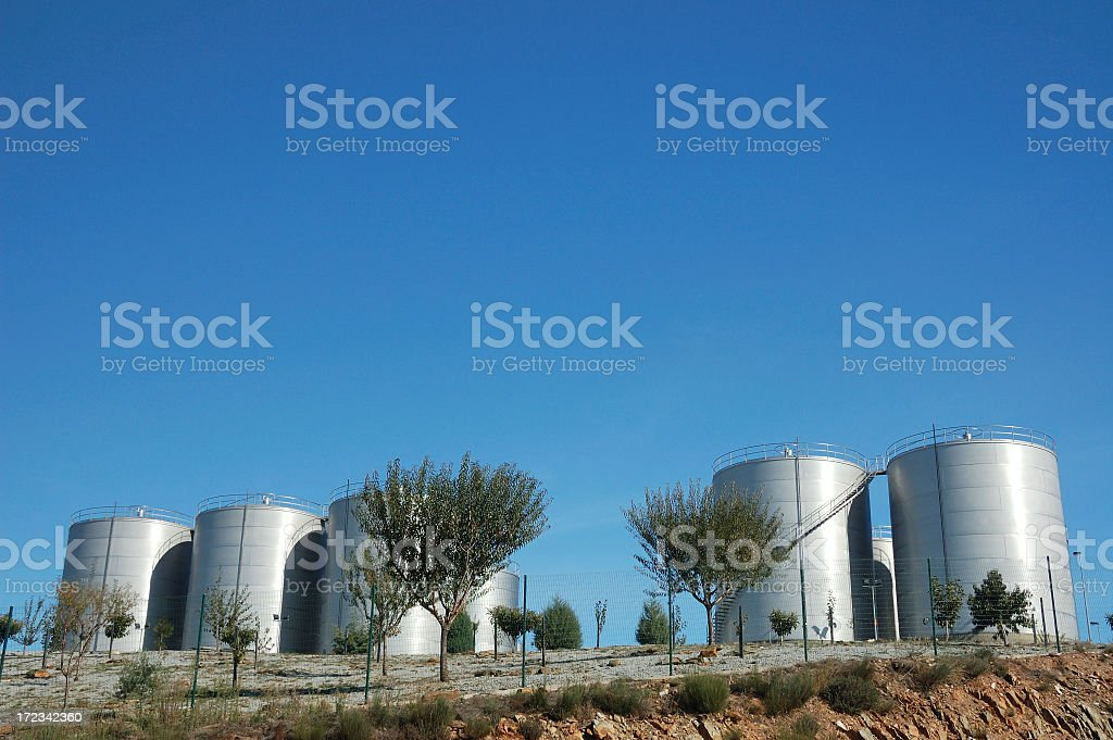 Port wine containers,Douro, Portugal royalty-free stock photo