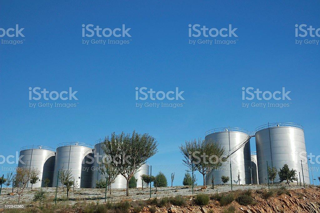 Port wine containers,Douro, Portugal stock photo