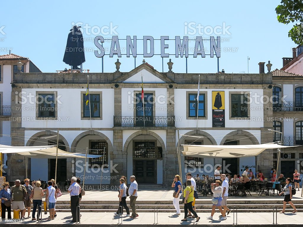 Port wine house Sandeman in Porto, Portugal stock photo