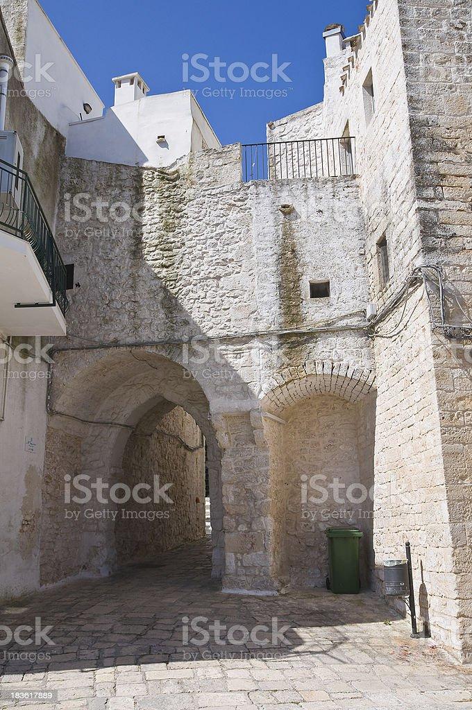 Porta of Monterrone. Ceglie Messapica. Puglia. Italy. royalty-free stock photo
