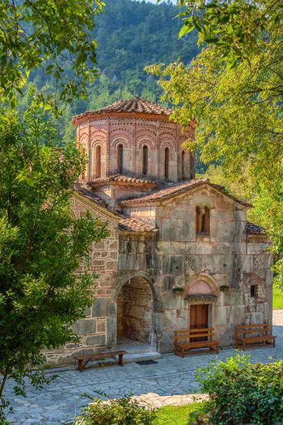 Porta Panagia church (built 1283 AD), Thessaly, Greece stock photo