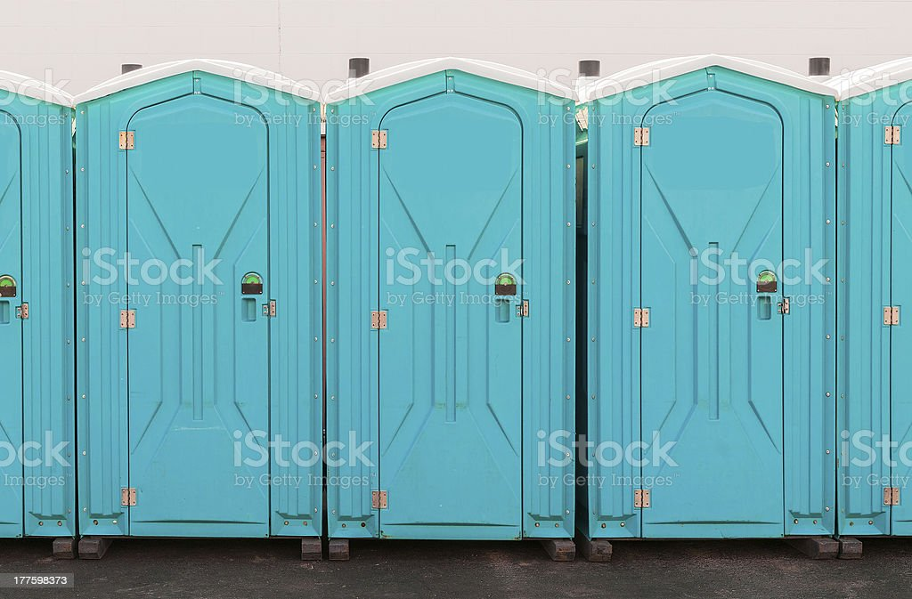 Porta Pottie Line Up stock photo