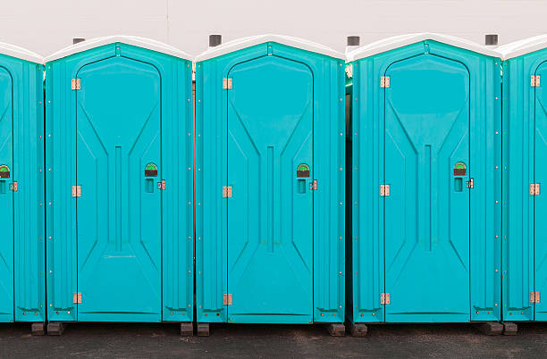 Porta Pottie Line Up Porta Pottie Line Up portable toilet stock pictures, royalty-free photos & images
