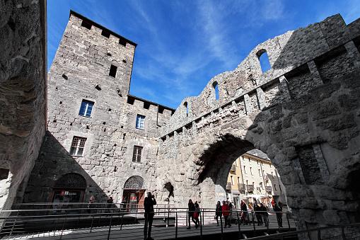 Porta Praetoria - Aosta, Valle d`Aosta, Italy