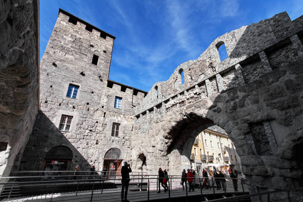 Porta Praetoria - Aosta, Valle d ' Aosta, Italia - foto de stock
