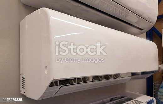 177118473 istock photo portable air condition for home use air conductors white 1157279335