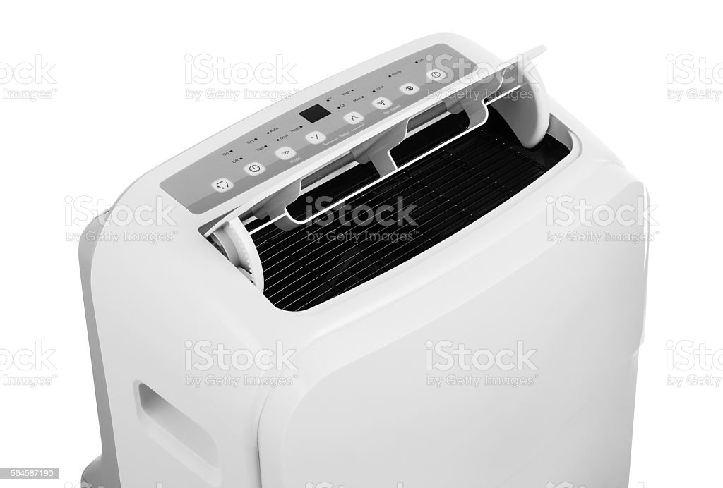 Portable air conditioner isolated on white background stock photo