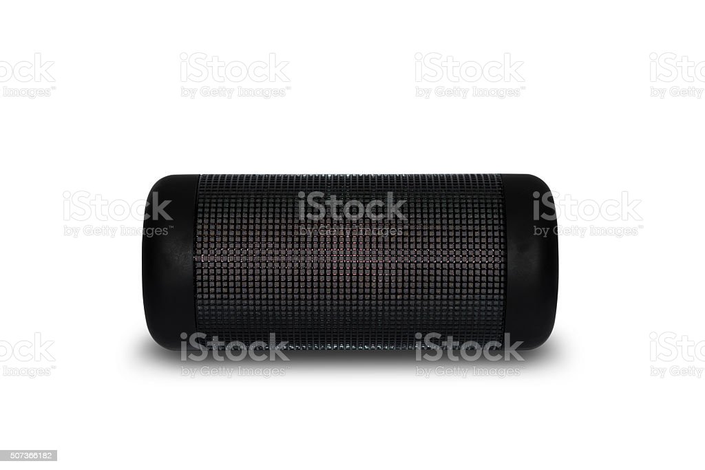 Portable Bluetooth Speaker Isolated on White (with Clipping Path) stock photo