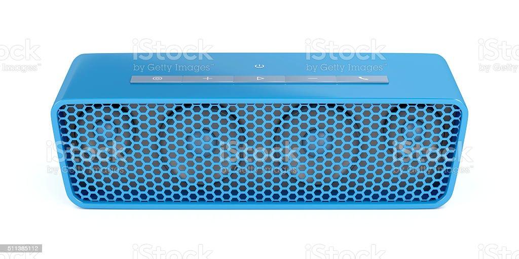 Portable bluetooth speaker stock photo