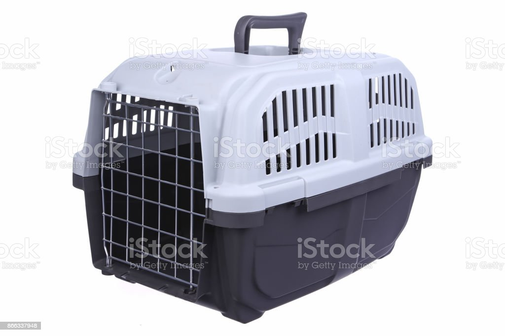 Portable cages for animals stock photo