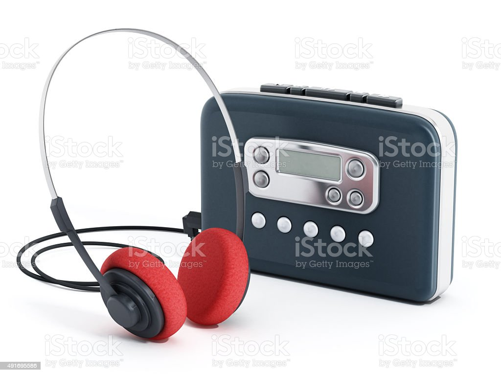 Portable cassette player stock photo