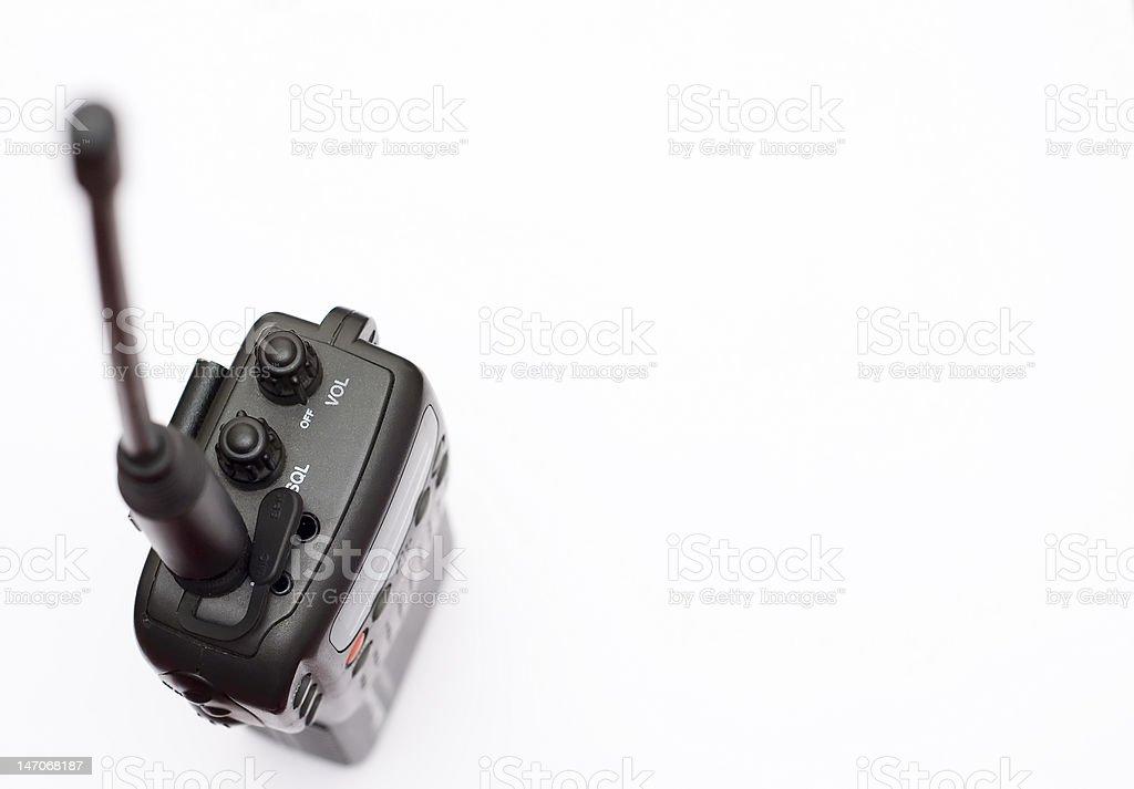 Portable CB radio transceiver stock photo