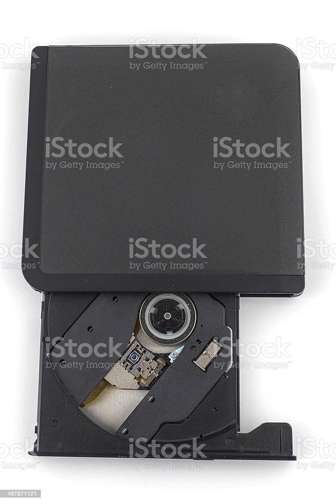 Portable Cd/Dvd external drive stock photo
