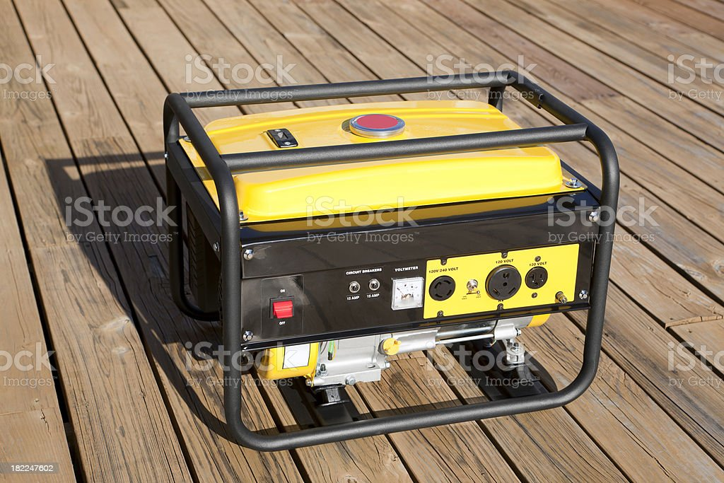 Portable Electric Generator royalty-free stock photo
