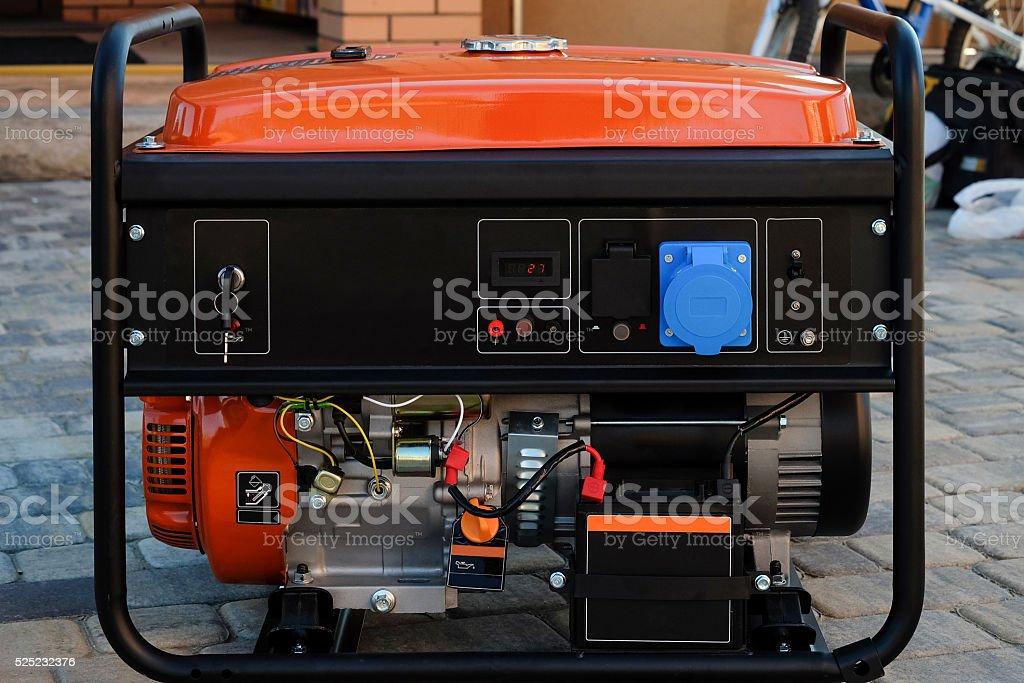 Portable electric generator stock photo