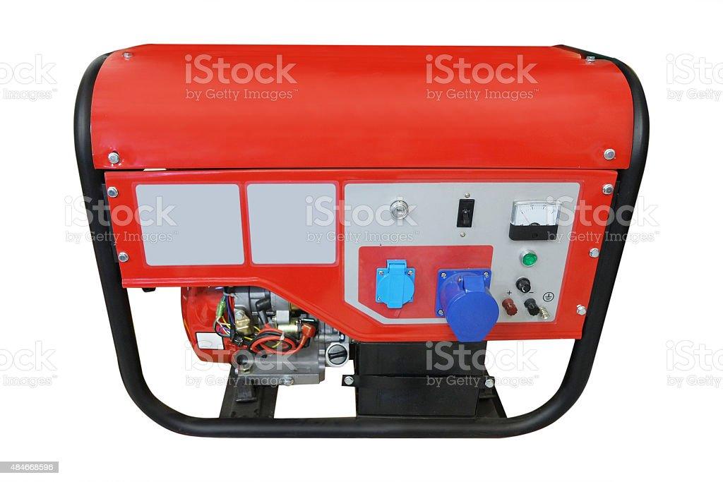 Portable gasoline generator stock photo
