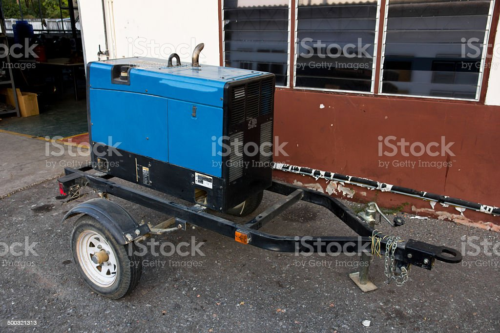 Portable Generator Trailer royalty-free stock photo
