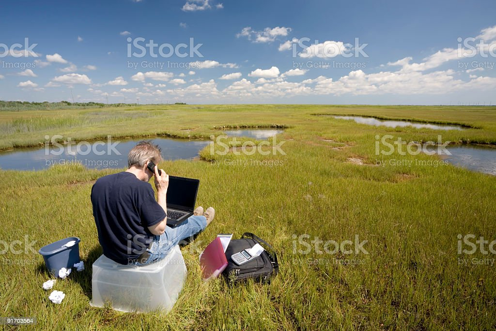 Portable Office Outdoors royalty-free stock photo