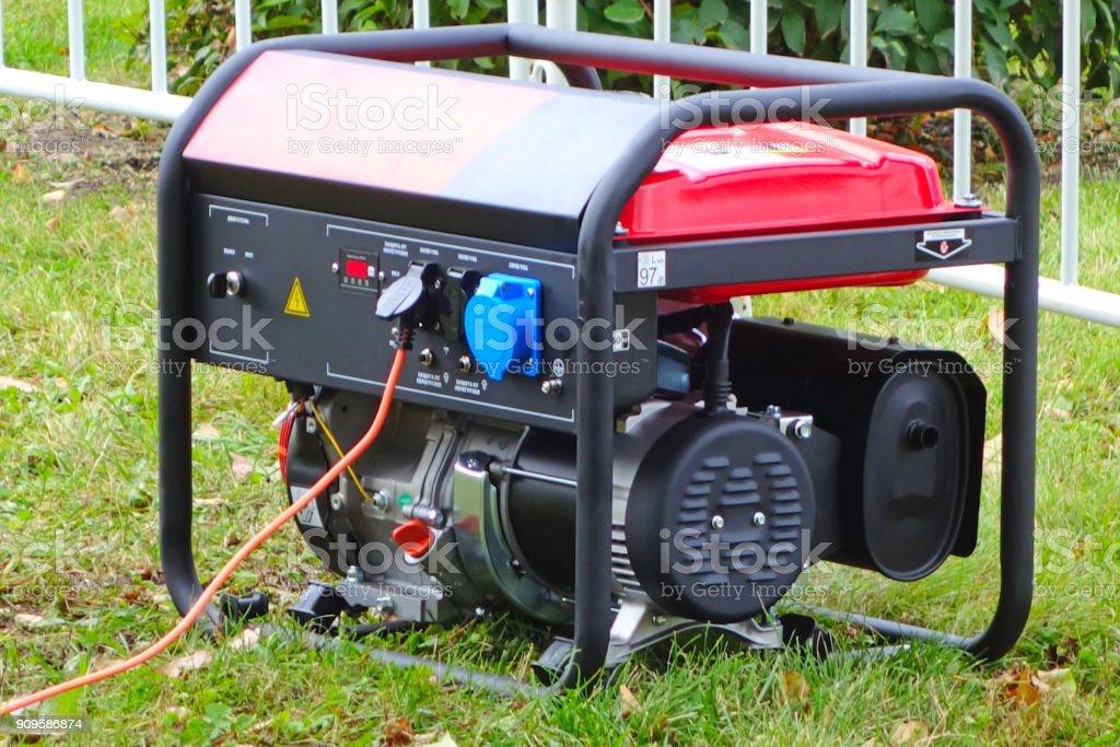 Portable power generator stock photo