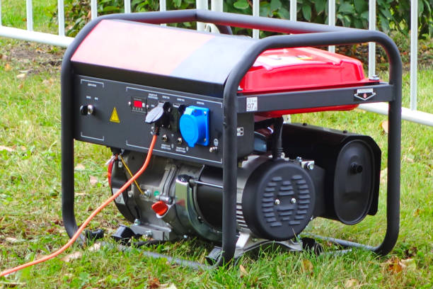 Portable power generator stock photo