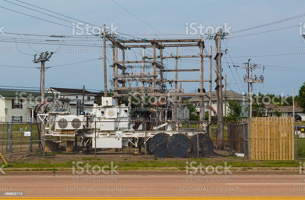 Portable Power Station in Port Hawkesbury stock photo