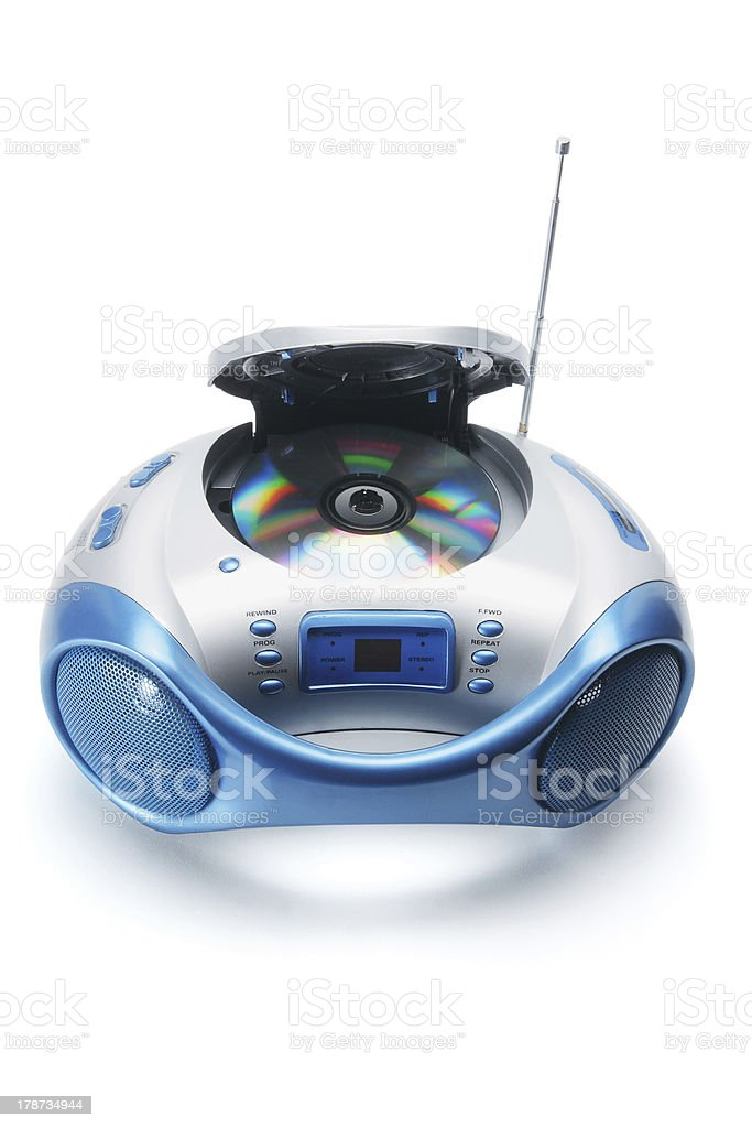 Portable Radio and CD Player stock photo