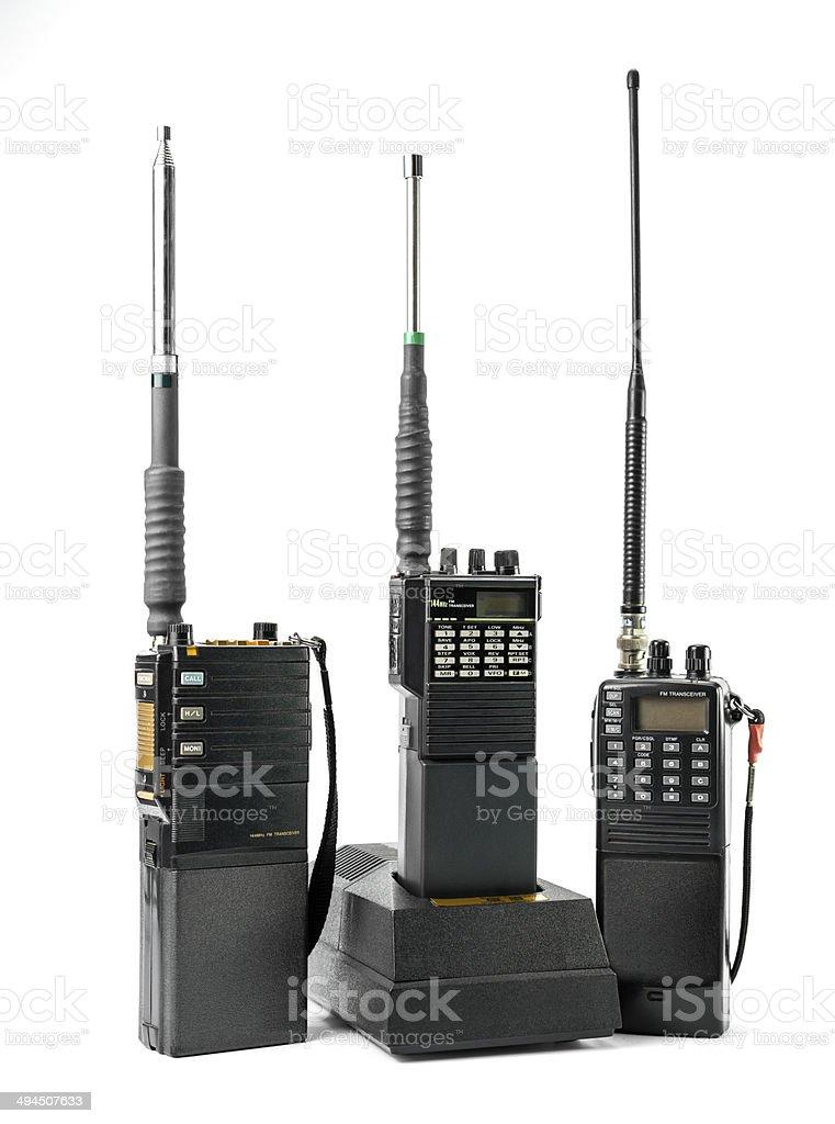 Portable radio set stock photo