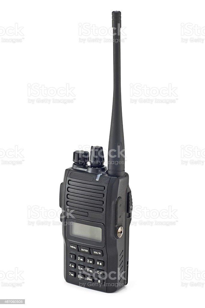portable radio sets stock photo