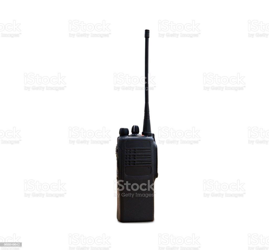 portable radios Walkie-talkie isolated on white stock photo