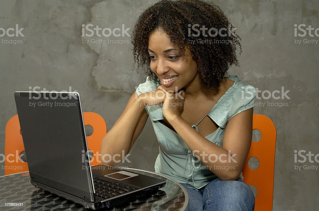 Portable smile royalty-free stock photo
