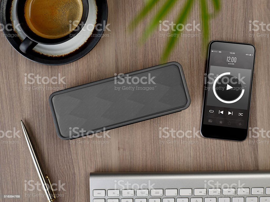 Portable speaker stock photo