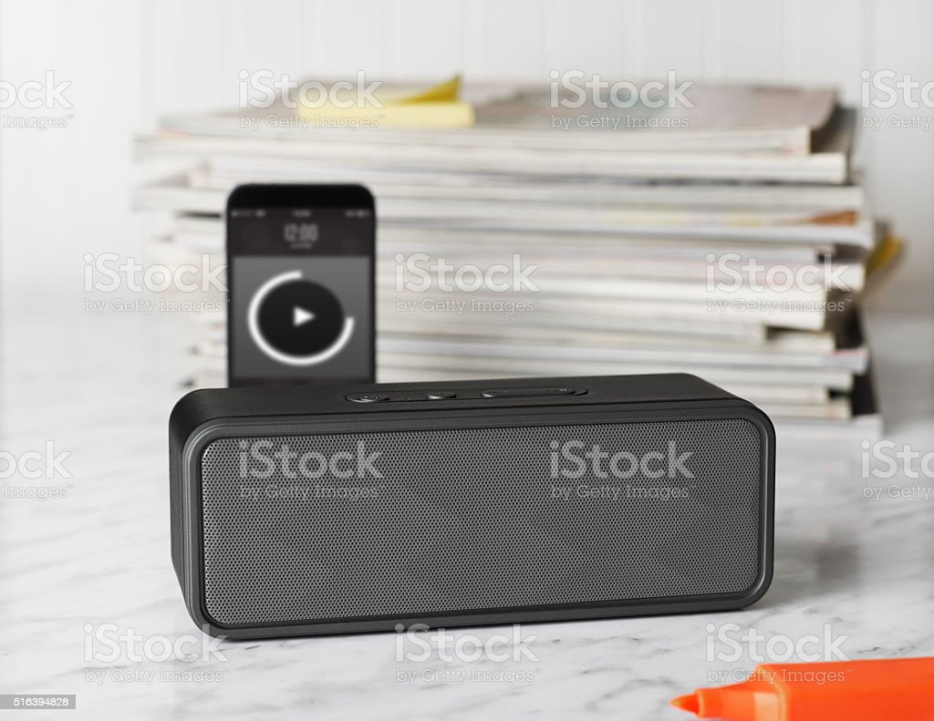 Portable speaker stock photo