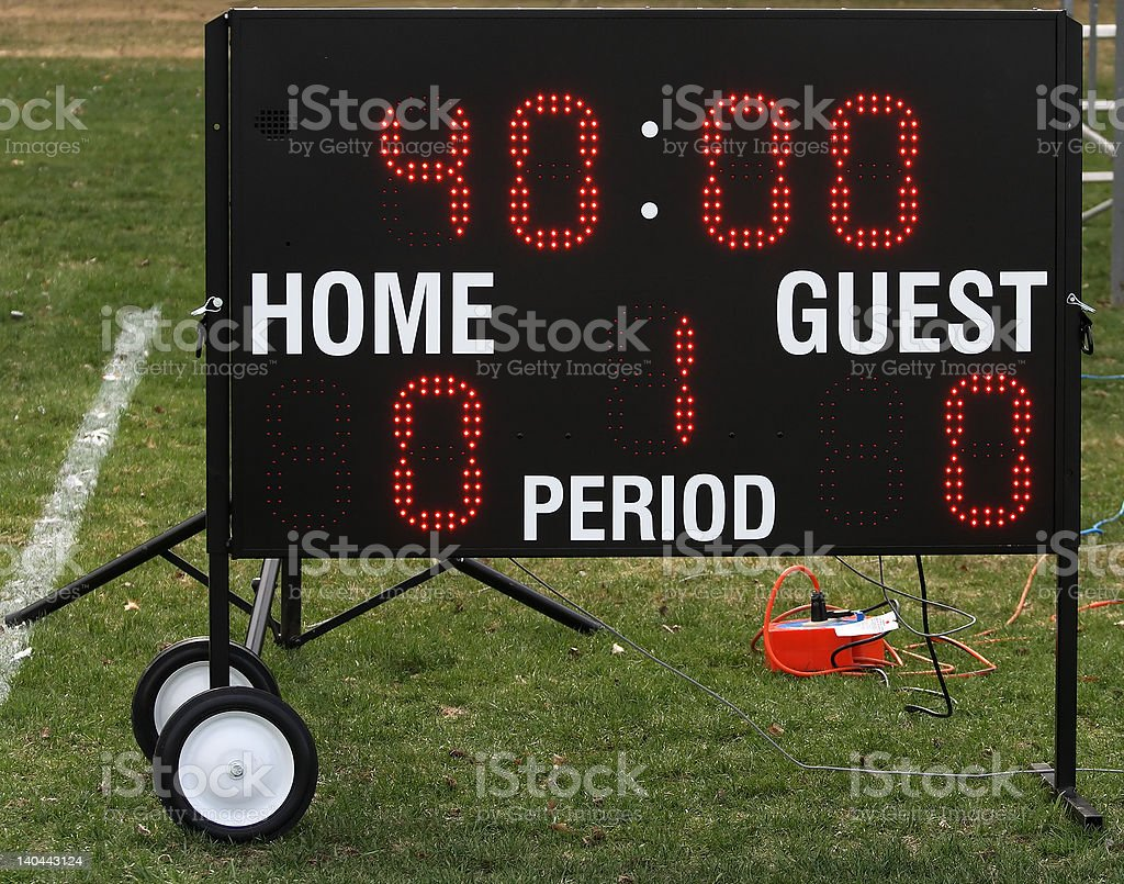 Portable sport electronic display. royalty-free stock photo