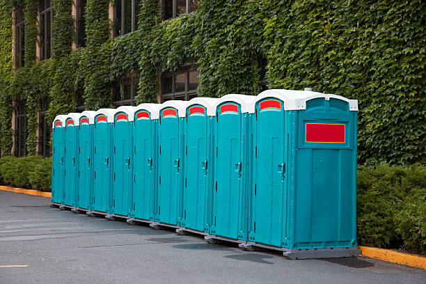 Portable toilets Portable toilets for outdoor festival-goers. portable toilet stock pictures, royalty-free photos & images
