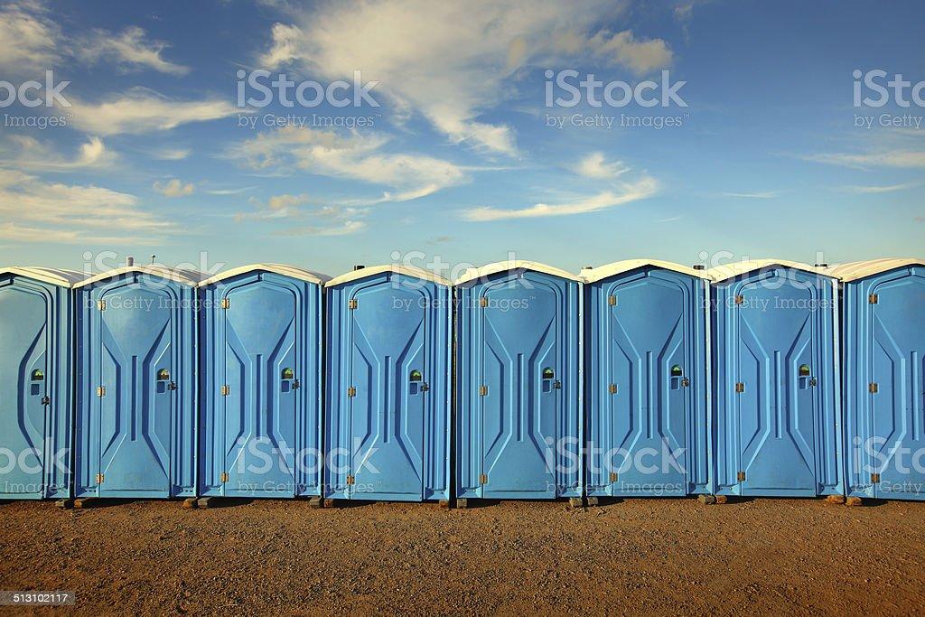 Tragbare Toiletten - Lizenzfrei Baugewerbe Stock-Foto