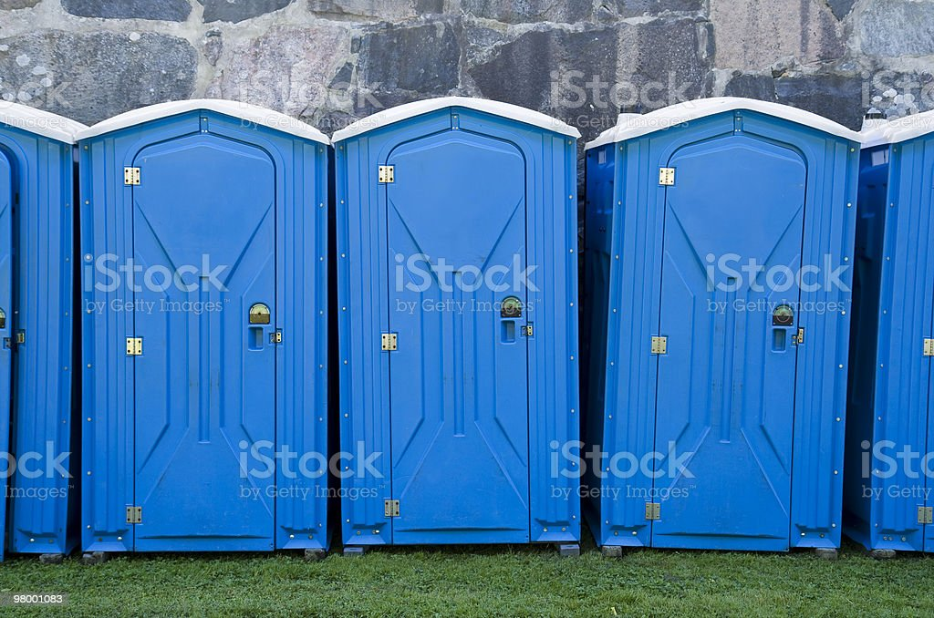 Portable toilets royalty free stockfoto