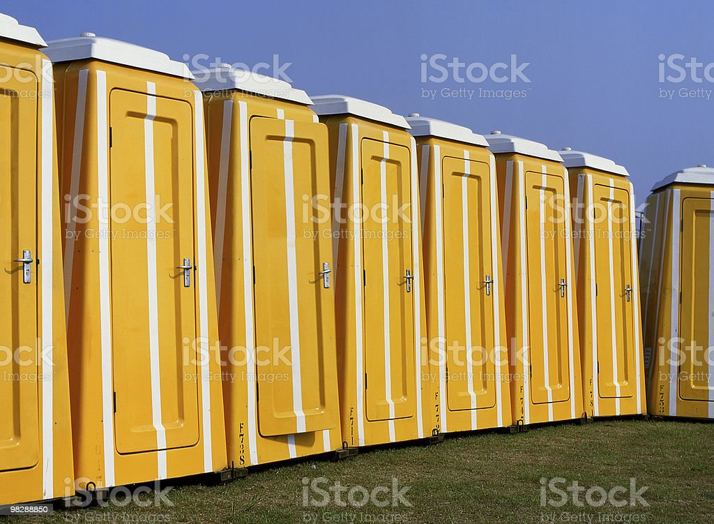 Portable Toilets royalty-free stock photo