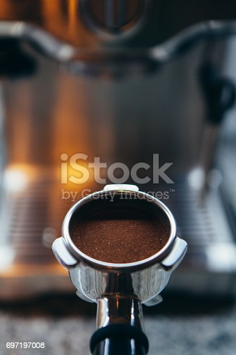 istock A portafilter with freshly ground morning coffee 697197008