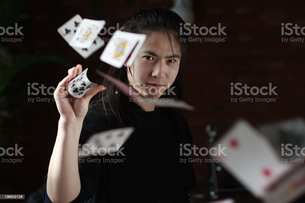 portait of a magician stock photo