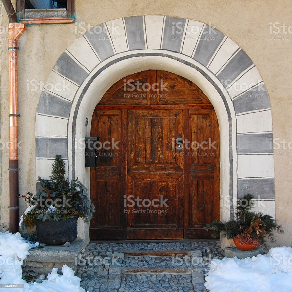 Portal from the Middle Ages royalty-free stock photo
