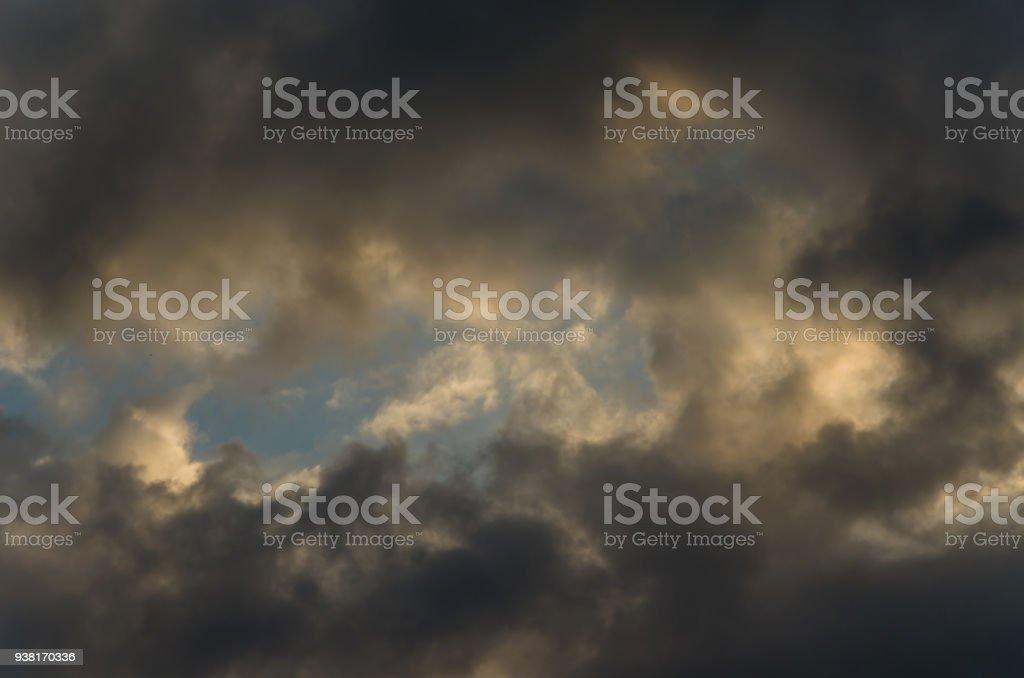 Portal in the sky stock photo