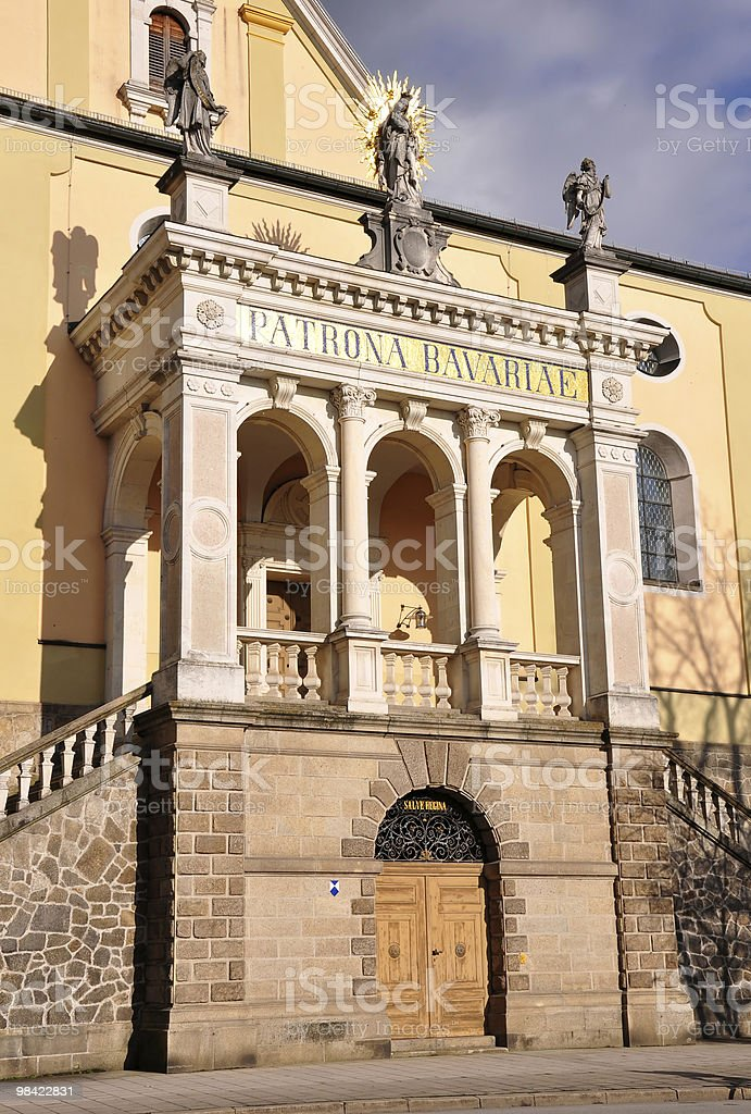Portal of church Maria Himmelfahrt in Deggendorf, Bavaria royalty-free stock photo