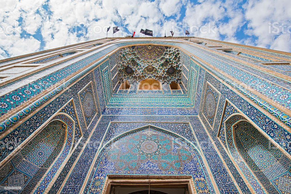 Portal of Jame (or Friday) Mosque, Yazd, Iran stock photo
