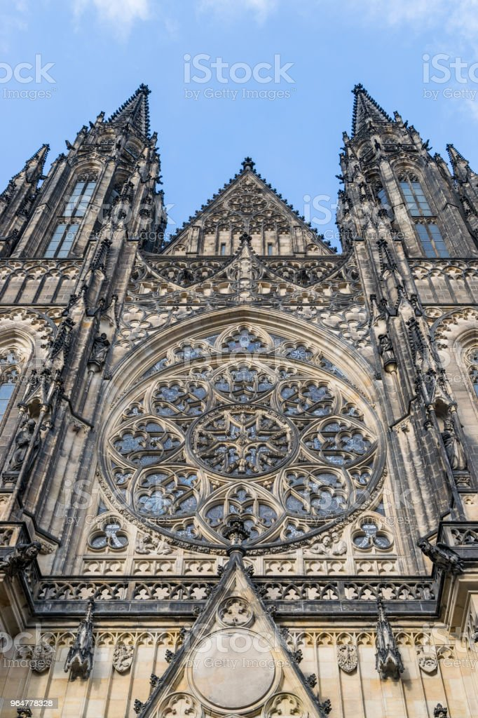 Portal of st. Vitus cathedral royalty-free stock photo