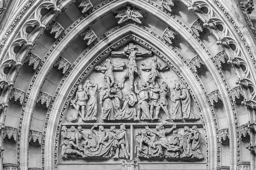 Portal Of St Vitus Cathedral Stock Photo - Download Image Now
