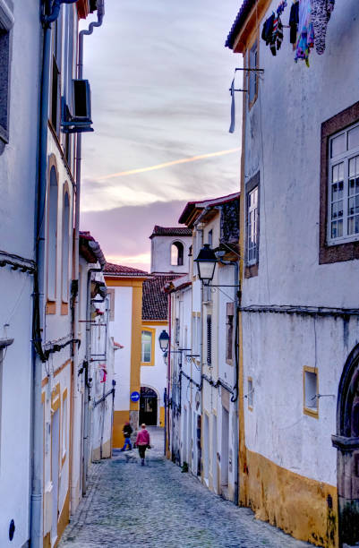 portalegre at sunset, portugal - portalegre imagens e fotografias de stock