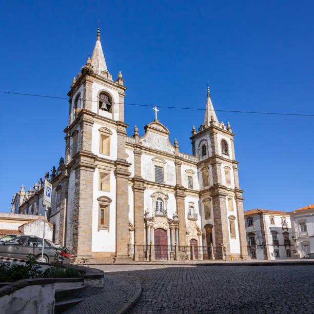 portalegre cathedral, or se de portalegre, portugal. - portalegre imagens e fotografias de stock