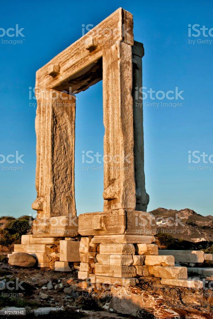 Portara of Naxos stock photo
