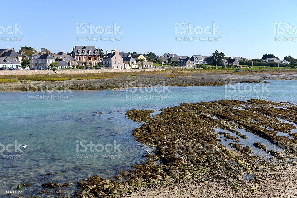 Port-Bail in France stock photo
