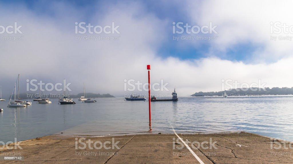 Port-Blanc in Morbihan gulf stock photo